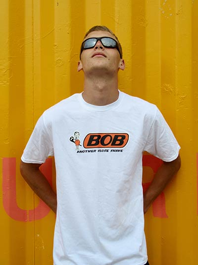 AnotherFineMesh Printed T-Shirts Bob Dobbs Another Close Shave T-Shirt Design image