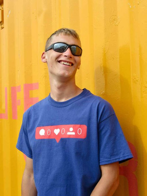 AnotherFineMesh T-Shirt Billy No Mates Social Media T-Shirt Design No Friends No Likes No Comments