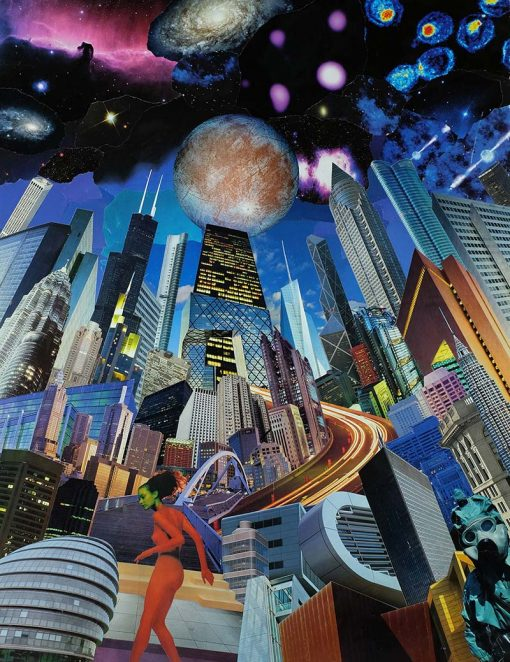 Dan Johnson sci-fi collage europa giclee art print image