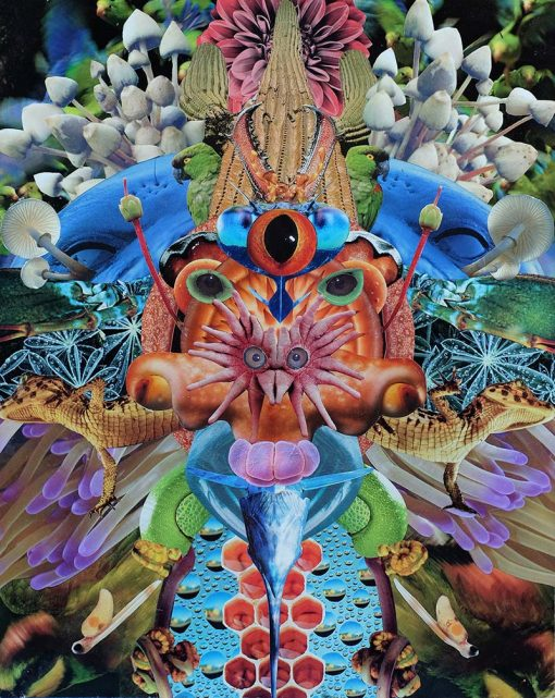 Dan Johnson sci fi collage godhead 1 giclee art print image