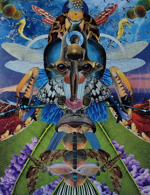 Dan Johnson sci-fi collage godhead 2 giclee art print image