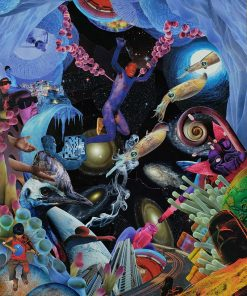 Dan Johnson sci fi collage jump giclee art print image