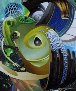 Dan Johnson sci fi collage slinky giclee art print image