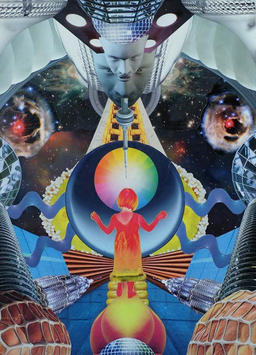 Dan Johnson sci-fi collage valis giclee art print image