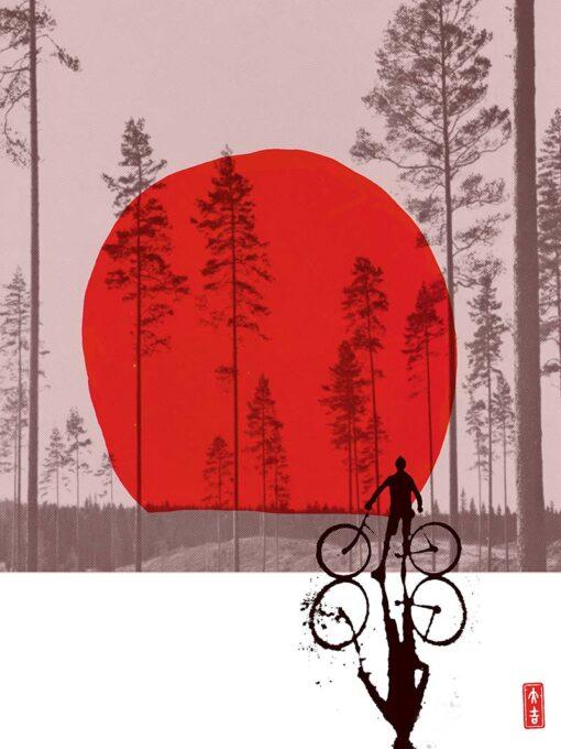 Sawyers Smedley Sun Set-ting Limited Edition Silkscreen Print Artist Print image