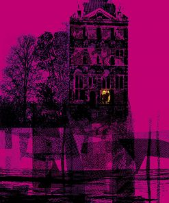 SawyersSmedley Mystery House pink Limited Edition Silkscreen Print image