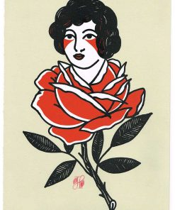Rose Lady Limited Edition Silkscreen Print Artists Prints ParkyDoodles