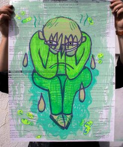 laughter print colour Limited edition Silkscreen Print Street Art Parky Parkydoodles image