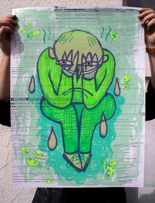 laughter print colour Limited edition Silkscreen Print Street Art Parky Parkydoodles image