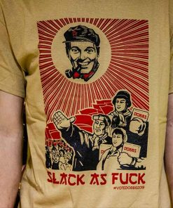 Bob Dobbs Slack As Fuck Handprinted T-Shirt Design image