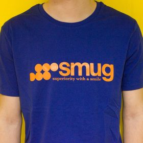 Smug T-Shirt Design Logo Silkscreen Print image