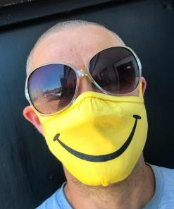 Acid House Smiley Face Face Mask image