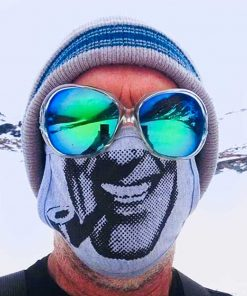 AnotherFineMesh Covid Mask Bob Dobbs Face Mask Fear And Loathing image