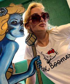 AnotherFineMesh Limited Edition Silkscreen T-Shirt Design Ok Boomer Womans T-Shirt image