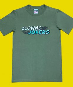 Clowns and Jokers Hand Printed T-Shirt Design image