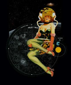 Paul Harrison Milky way Girl A3 A2 Hand cut Paper Collage image
