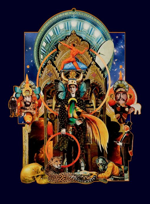 Paul Harrison Wizard Original Paper Collage Giclee Print A2 and A3 image