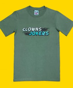 AnotherFineMesh Clowns and Jokers Hand Printed T-Shirt Design image