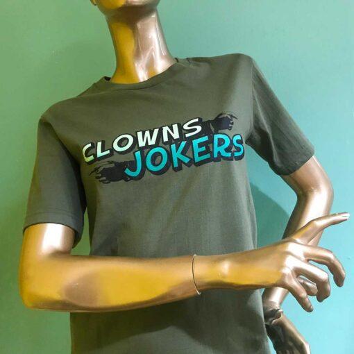 AnotherFineMesh ClownsJokers Handprinted T-Shirt Design image