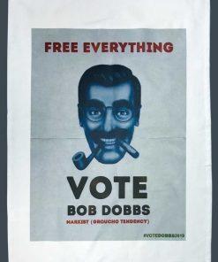 Bob Dobbs Free Everything Groucho Tendencies Tea Towel image