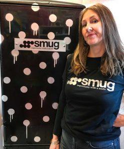 Smug T-Shirt Design Superiority with a smile image